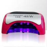 LED lampa na nehty 48W, růžová
