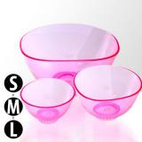 Sada 3 silikonových misek na alginátové masky - růžové (rozměry S+M+L) (A)