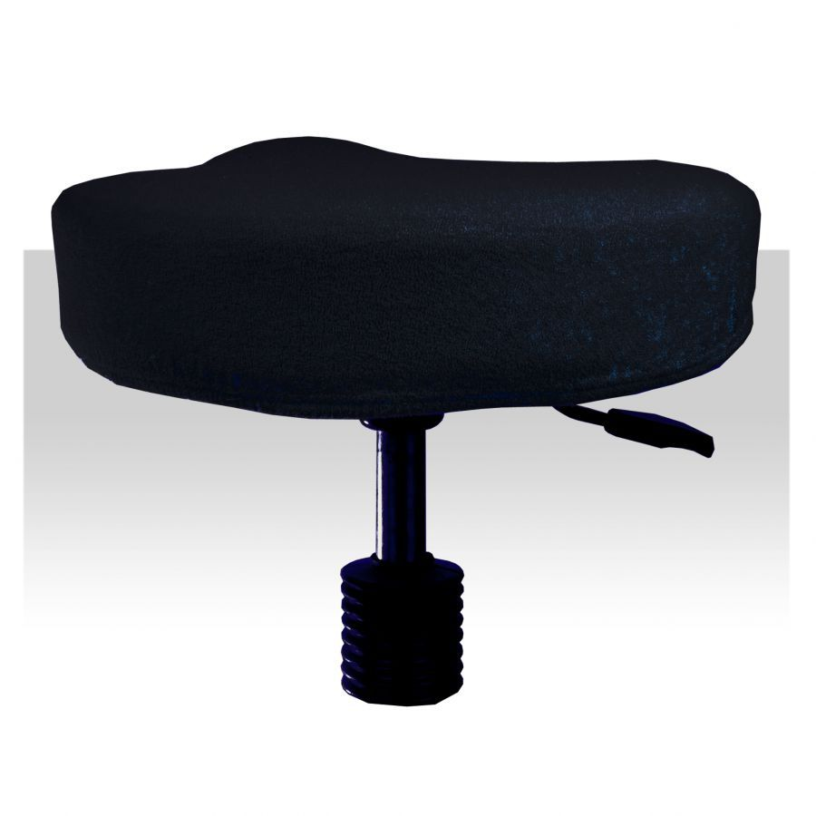 Froté potah / obal na taburet - černý