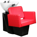Kadeřnický mycí box GABBIANO ANKARA červený (AS)