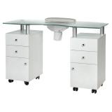 Kosmetický stolek na manikúru BD-3453+P bílý (BS)