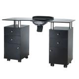Kosmetický stolek na manikúru BD-3453+P černý (BS)
