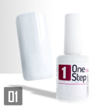 One Step gel UV/LED 3v1 bílý 15ml (A)