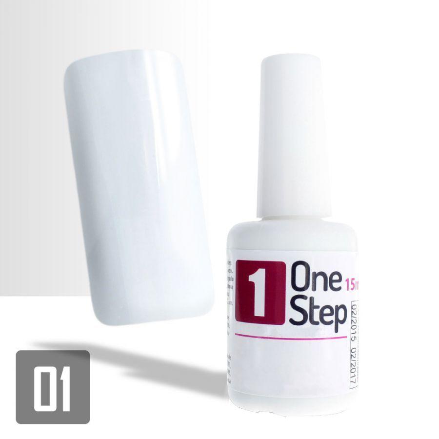 One Step - barevný UV/LED gel 3v1 bílý 15ml