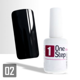 One Step gel UV/LED 3v1 černý 15ml (A)