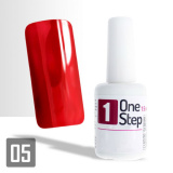One Step gel UV/LED 3v1 intenzivní červená 15ml (A)