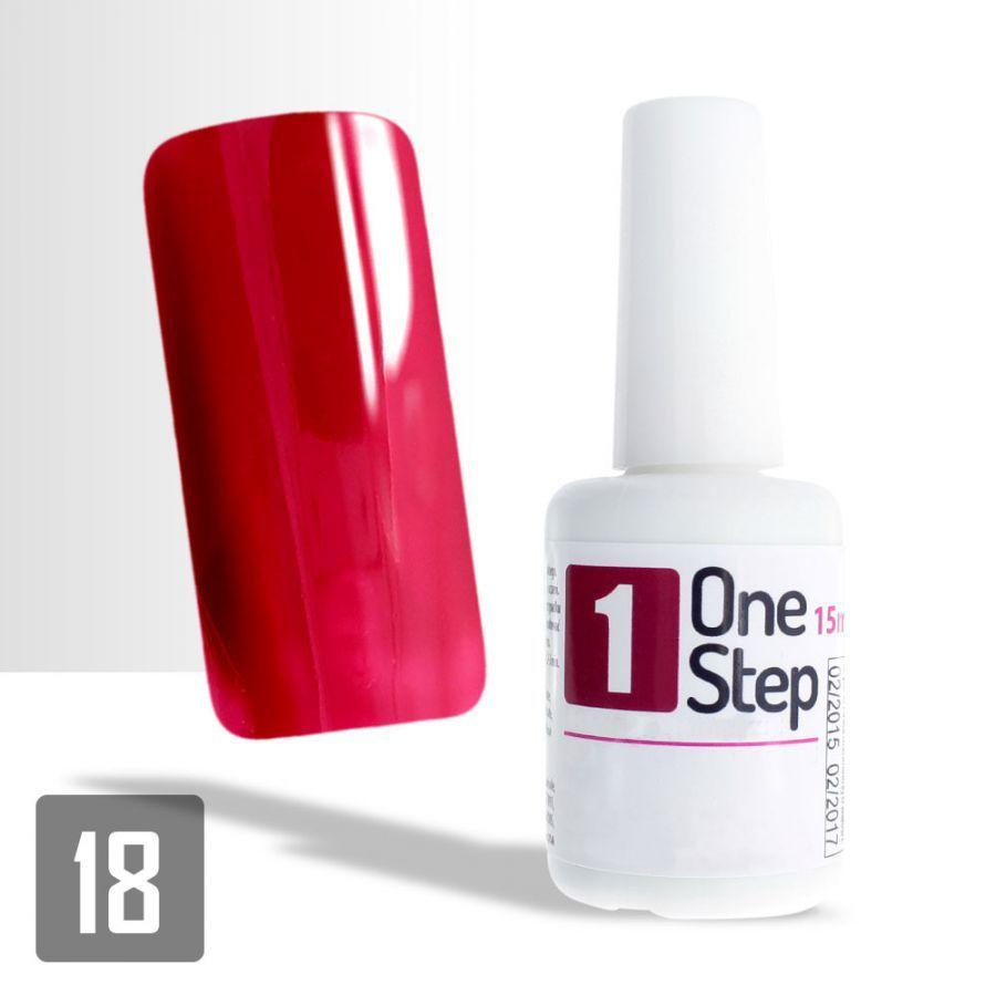 One Step gel UV/LED 3v1 karmínový 15ml