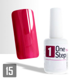 One Step gel UV/LED 3v1 tmavě červený 15ml (A)