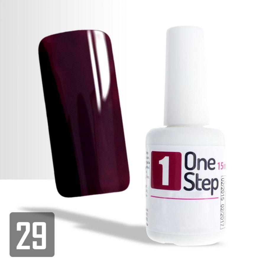 One Step gel UV/LED 3v1 tmavě vínový 15ml