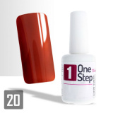 One Step gel UV/LED 3v1 železná červeň 15ml (A)