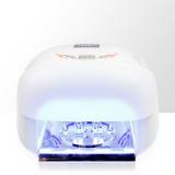 Lampa LCD UV 36W + 4 žárovky na jednu dlaň se sušičkou - bílá (A)