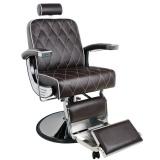 Holičské (barber) křeslo GABBIANO IMPERIAL hnědé (AS)