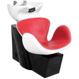Kadeřnický mycí box GABBIANO AMSTERDAM červeno-bílý (AS)