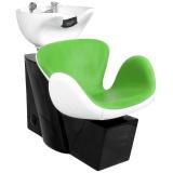 Kadeřnický mycí box GABBIANO AMSTERDAM zeleno-bílý (AS)