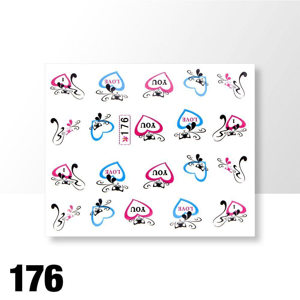 Vodolepky na zdobení nehtů č. 176