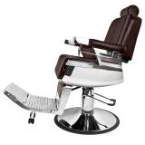 Barbers křeslo GABBIANO ROYAL hnědé, holičské křeslo