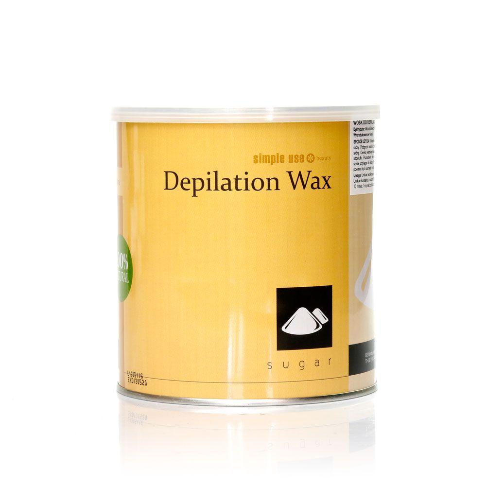 Depilační vosk z Řecka SIMPLE USE cukrový - plechovka 800ml