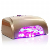 LED UV lampa se sušičkou K1 36W - zlatá (A)