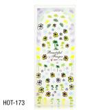 Vodolepky na zdobení nehtů - velký list 12,7 x 5,5cm HOT-173 (A)