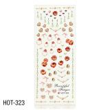Vodolepky na zdobení nehtů - velký list 12,7 x 5,5cm HOT-323 (A)