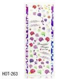 Vodolepky na zdobení nehtů - velký list 12,7 x 5,5cm HOT-263 (A)