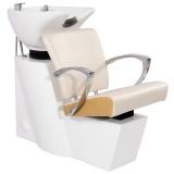 Kadeřnický mycí box GABBIANO SEVILLA bílo-zlatý (AS)