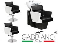 Kadeřnický set 2+1 GABBIANO DUBLIN bílo-černý (AS)