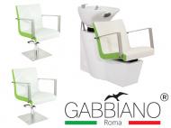 Kadeřnický set 2+1 GABBIANO ROMA bílo-zelený (AS)
