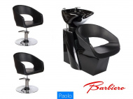 Kadeřnický set 2+1 PAOLO černý (BS)