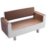 Sofa do čekárny GABBIANO TURIN hnědo-béžové (AS)