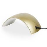 UV LED lampa Sun Q5S s displejem 24W - zlatá