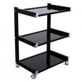 Mobilní stůl s 3 policemi HIGH-CLASS Black (K)