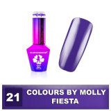 21 Gel lak Colours by Molly 10ml - Fiesta (A)