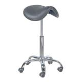 Kosmetická stolička RODEO BD-9909 šedá