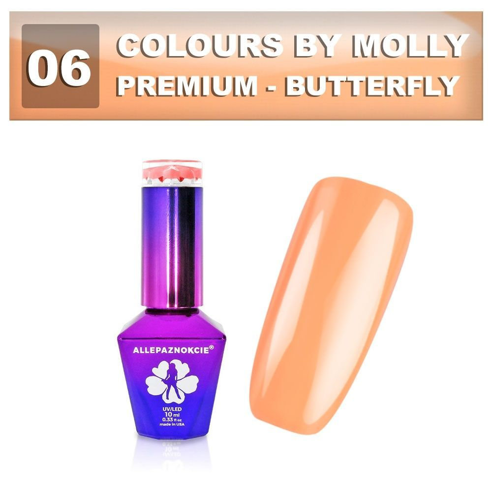 Gel lak Colours by Molly PREMIUM 10ml -BUTTERFLY-