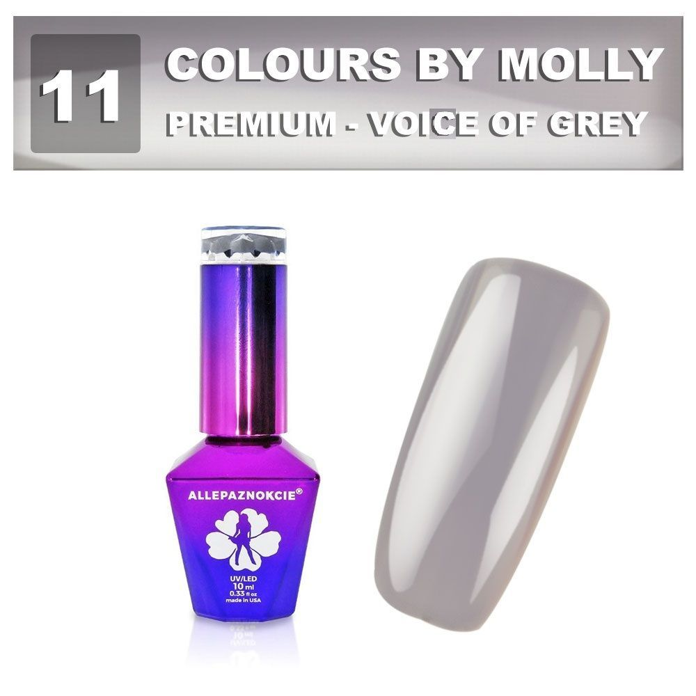 Gel lak Colours by Molly PREMIUM 10ml -VOIVE OF GREY-