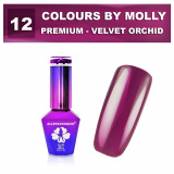 12 Gel lak Colours by Molly PREMIUM 10ml -VELVET ORCHID- (A)
