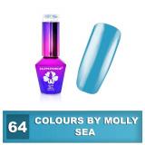 64 Gel lak Colours by Molly 10ml - Sea (A)