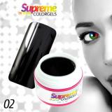 UV gel SUPREME COLORGEL 02 - černý 5ml (A)