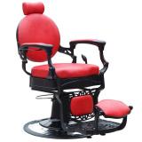 Barbers - holičské křeslo GABBIANO PRESIDENT červené (AS)