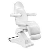 Otočné elektrické kosmetické křeslo BASIC 161 - bílé (AS)