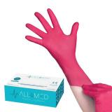 Jednorázové nitrilové rukavice malinové - velikost L (AS)