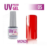 05.UV gel lak na nehty hybridní MONZA teplá červená 6 ml (A)