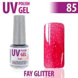 85.UV gel lak na nehty hybridní FAY GLITTER 6 ml (A)