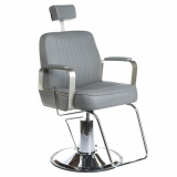 Barbers - holičské křeslo HOMER BH-31237 šedéLUX (BS)