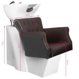 Kadeřnický mycí box BER 8183 hnědý
