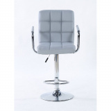 Barová židle s područkami 1015wp šedá