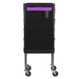 GABBIANO Kadeřnický úložný stolek FT65-1 černo/fialový