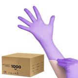 Jednorázové nitrilové rukavice fialové - XS - karton 10ks (AS)