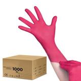 Jednorázové nitrilové rukavice malinové - karton 10ks - velikost L (AS)